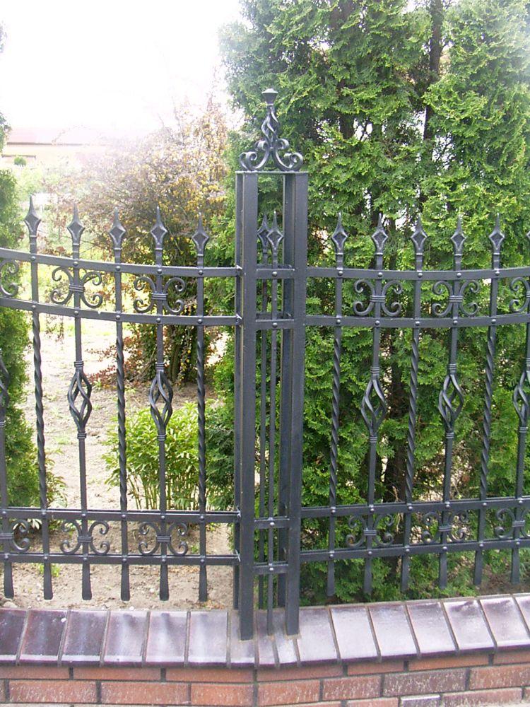Garden fence wrought iron