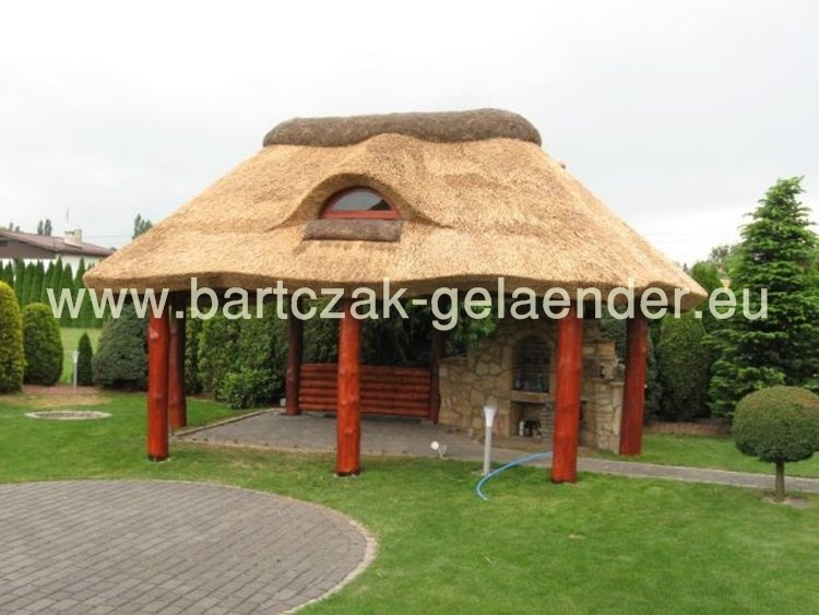 Gartenpavillon | Gartenhaus | Gartenlaube | Ferienhaus | Reetdach