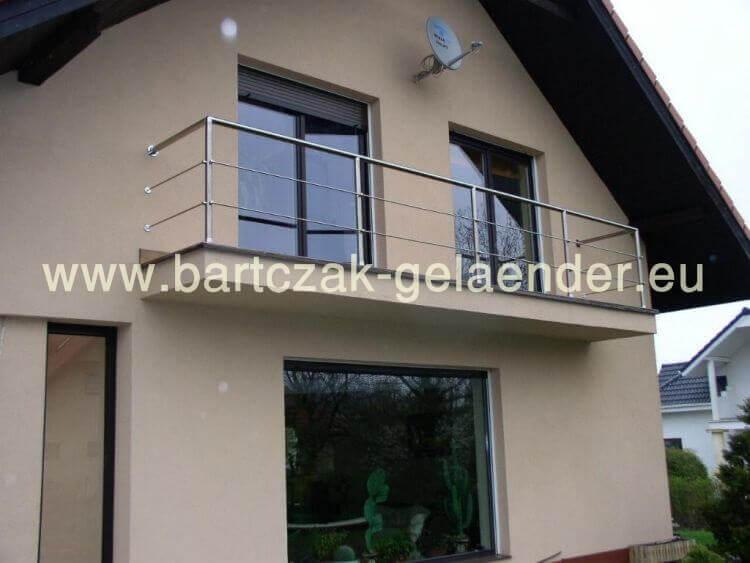 Edelstahlgeländer Balkon Mit Glas | Bausatz, Aus Polen | Selber ... Gelander Am Balkon Bauen