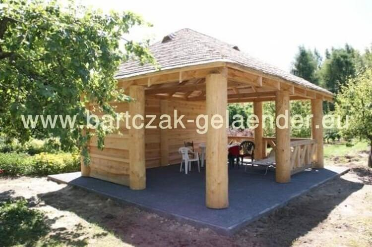 garten holzpavillon bausatz geschlossen gartenhaus. Black Bedroom Furniture Sets. Home Design Ideas