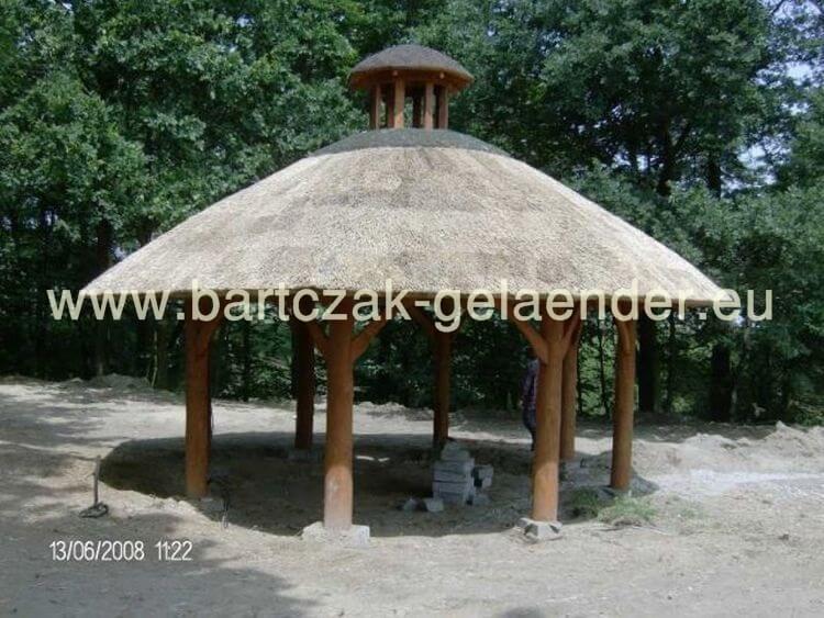 Gartenpavillon Holz Reetdach ~ Garten Holzpavillon  Gartenhaus  Gartenlaube  Ferienhaus bei