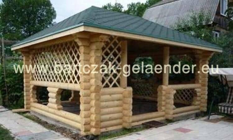 garten holzpavillon geschlossen bausatz selber bauen nur bei bartczak gelaender. Black Bedroom Furniture Sets. Home Design Ideas