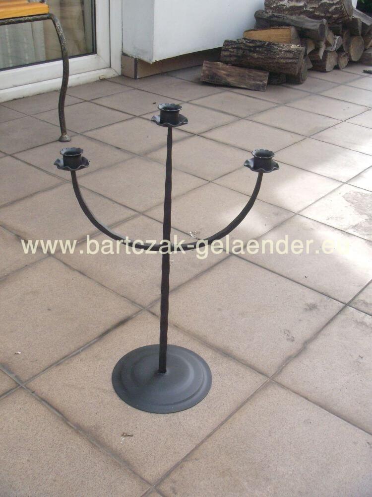 kerzenst nder schwarz metall kerzenst nder schmiedeeisen bartczak gelaender. Black Bedroom Furniture Sets. Home Design Ideas