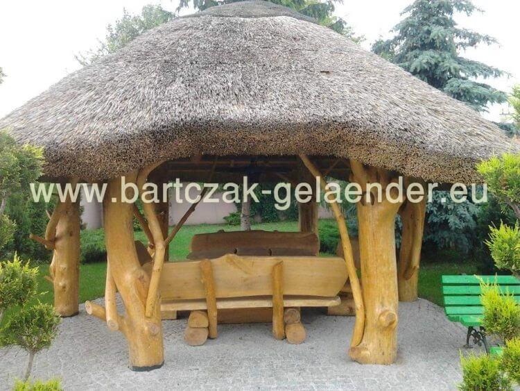 Favorit Gartenpavillon mit Reetdach, Gartenpavillon Holz Reetdach NT16