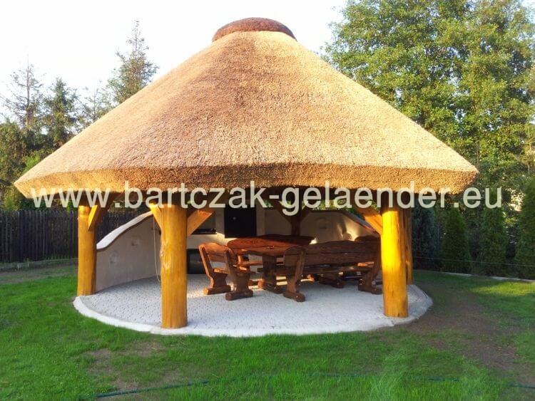 Extrem Gartenpavillon mit Reetdach, Gartenpavillon Holz Reetdach TA15