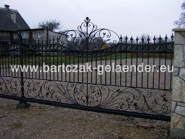 Zaun aus Polen, Gartenzaun Metall Verzinkt, Eisentor Schmiedeeisen ...